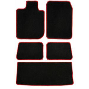 Nylon Carpet CFMBX1HD7128 Black Coverking Custom Fit Front and Rear Floor Mats for Select Honda Civic SI Models