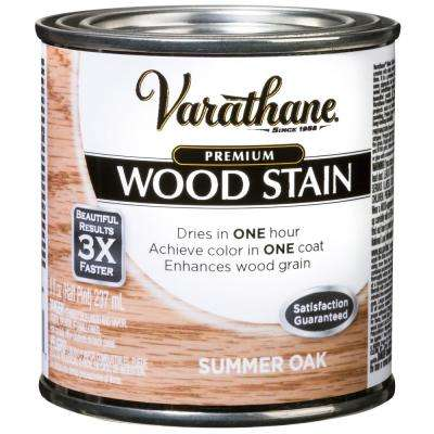 8 oz. Summer Oak Premium Fast Dry Interior Wood Stain (4-Pack)