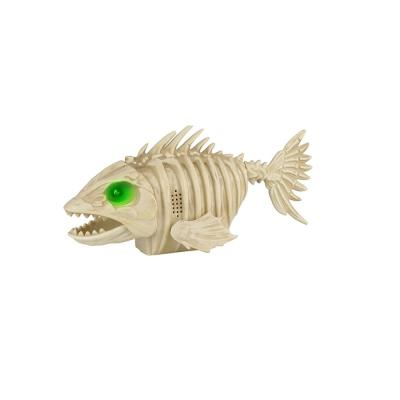 10 in ANIMATED LED Skeleton Piranha