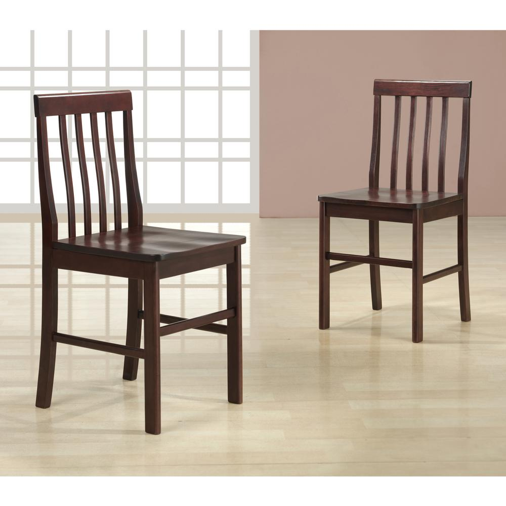 Walker Edison Furniture Company Abigail Espresso Wood Dining Chair (Set Of  2)