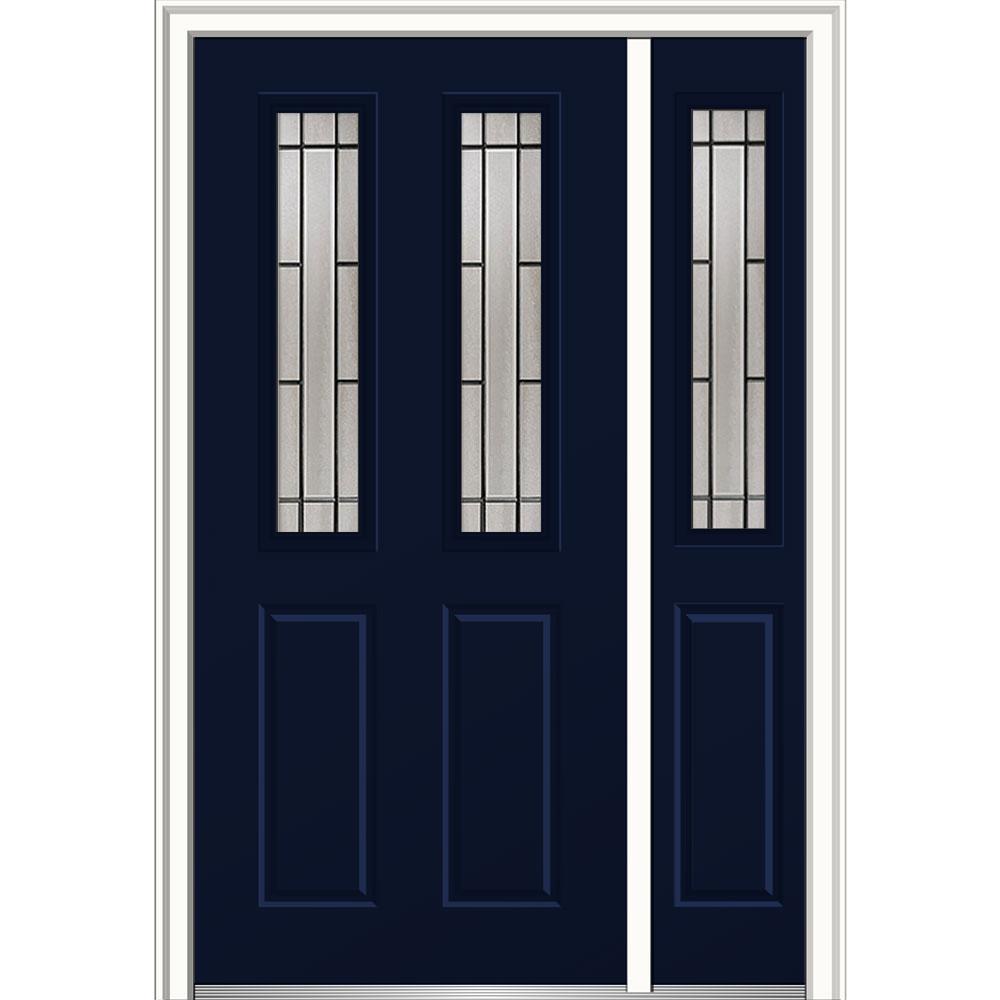 MMI Door 48 in. x 80 in. Solstice Right-Hand 2-1/2-Lite 2-Panel ...