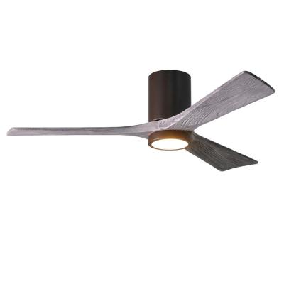 Irene 52 in. LED Indoor/Outdoor Damp Textured Bronze Ceiling Fan with Light with Remote Control and Wall Control