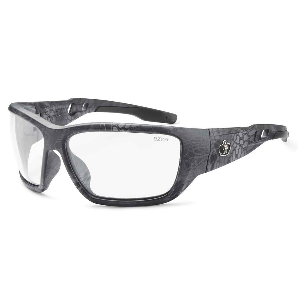Skullerz Baldr Kryptek Typhon Anti-Fog Safety Glasses, Clear Lens - ANSI Certified