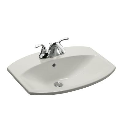 Cimarron Drop-In Vitreous China Bathroom Sink in Ice Grey