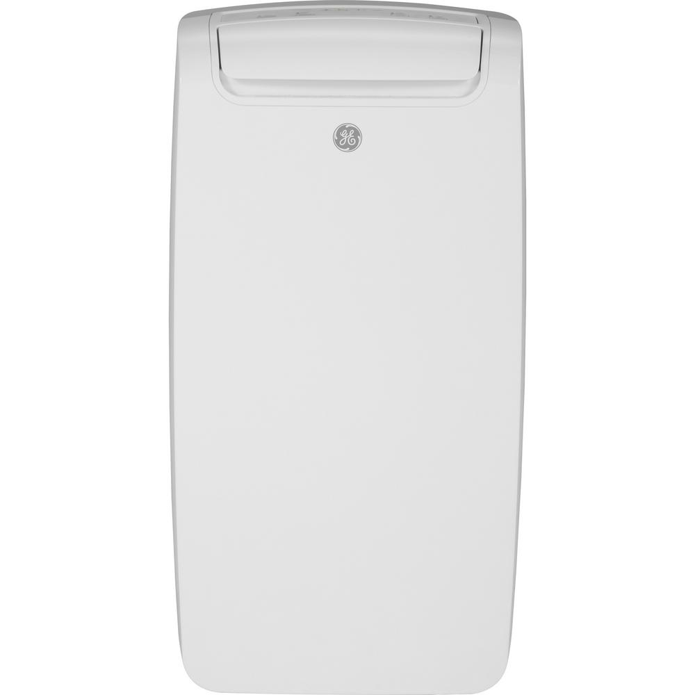Ge 8 000 Btu 4 200 Btu Doe Portable Air Conditioner With Dehumidifier And Remote In White Apca08nylw The Home Depot