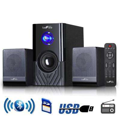 2.1-Channel Surround Sound Bluetooth Speaker System in Black