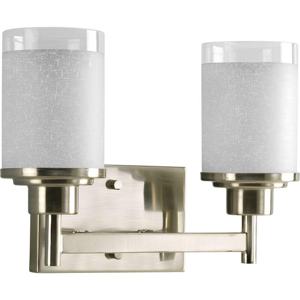 Alexa Collection 2-Light Brushed Nickel Bathroom Vanity Fixture