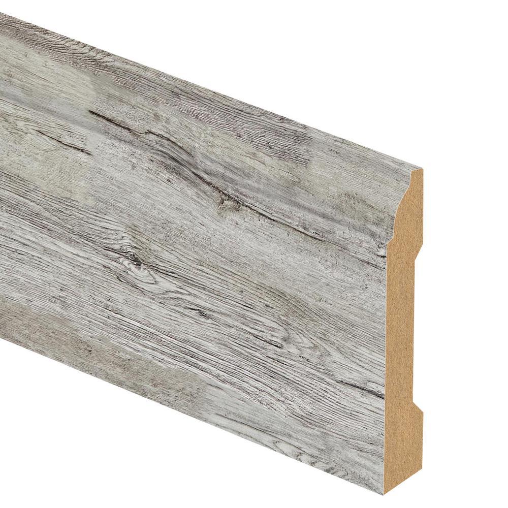 Zamma Silver Cliff Oak/Lake Cottage Oak 9/16 in. Thick x 3-1/4 in. Wide x 94 in. Length Laminate Base Molding