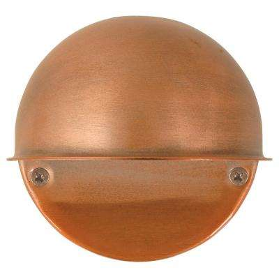 Low-Voltage Antique Copper 1-Light Circular-Mount Deck Light