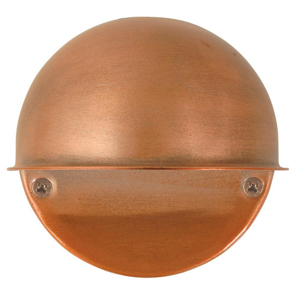 Low-Voltage 7-Watt Antique Copper Outdoor Flushmount Circular Deck Light