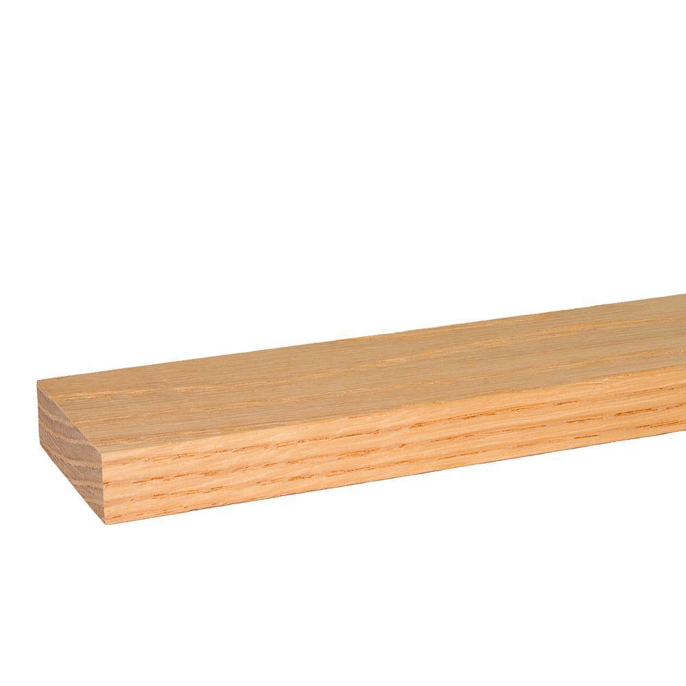 1 in. x 3 in. x 8 ft. S4S Red Oak Board (4-Pack)