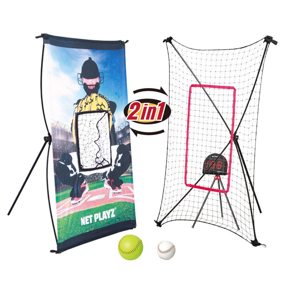 Net Playz Baseball Smart Trainer Combo Radar, Pitch Back and Target