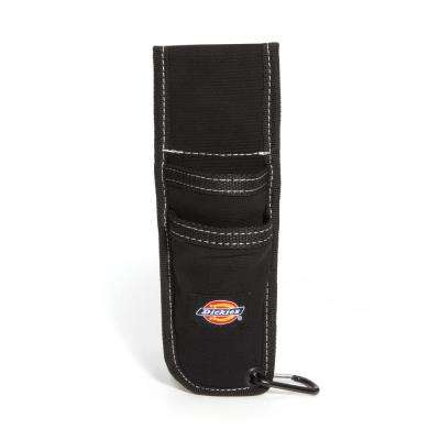 2-Pocket Utility Knife Sheath Tool Belt Pouch with Cut-Preventive Lining in Black