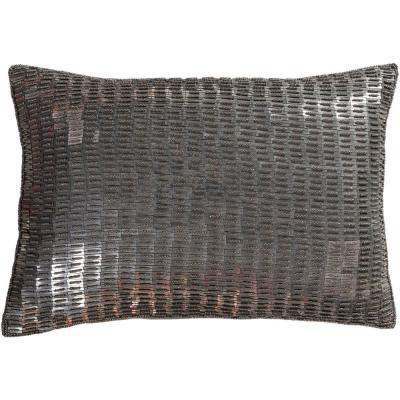 Laramie Silver Solid Polyester 13 in. x 19 in. Throw Pillow