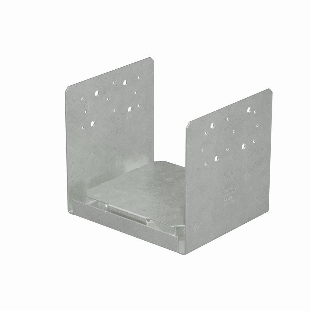 8 in. x 8 in. 14-Gauge Hot-Dip Galvanized Rough Adjustable Post Base