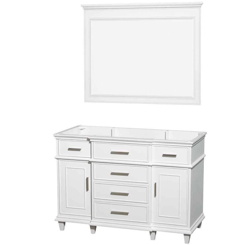 Berkeley 48 in. Vanity Cabinet with Mirror in White
