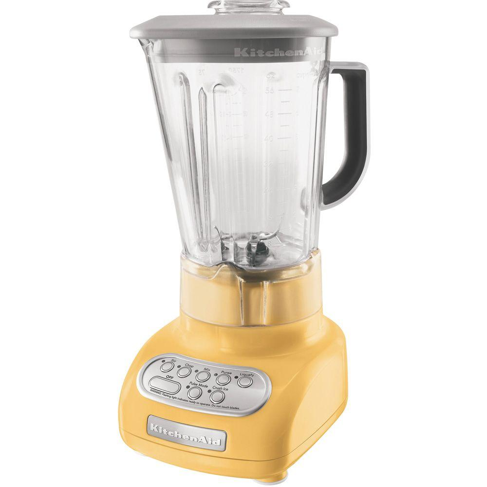 KitchenAid 5-Speed Polycarbonate Jar Blender in Buttercup-DISCONTINUED