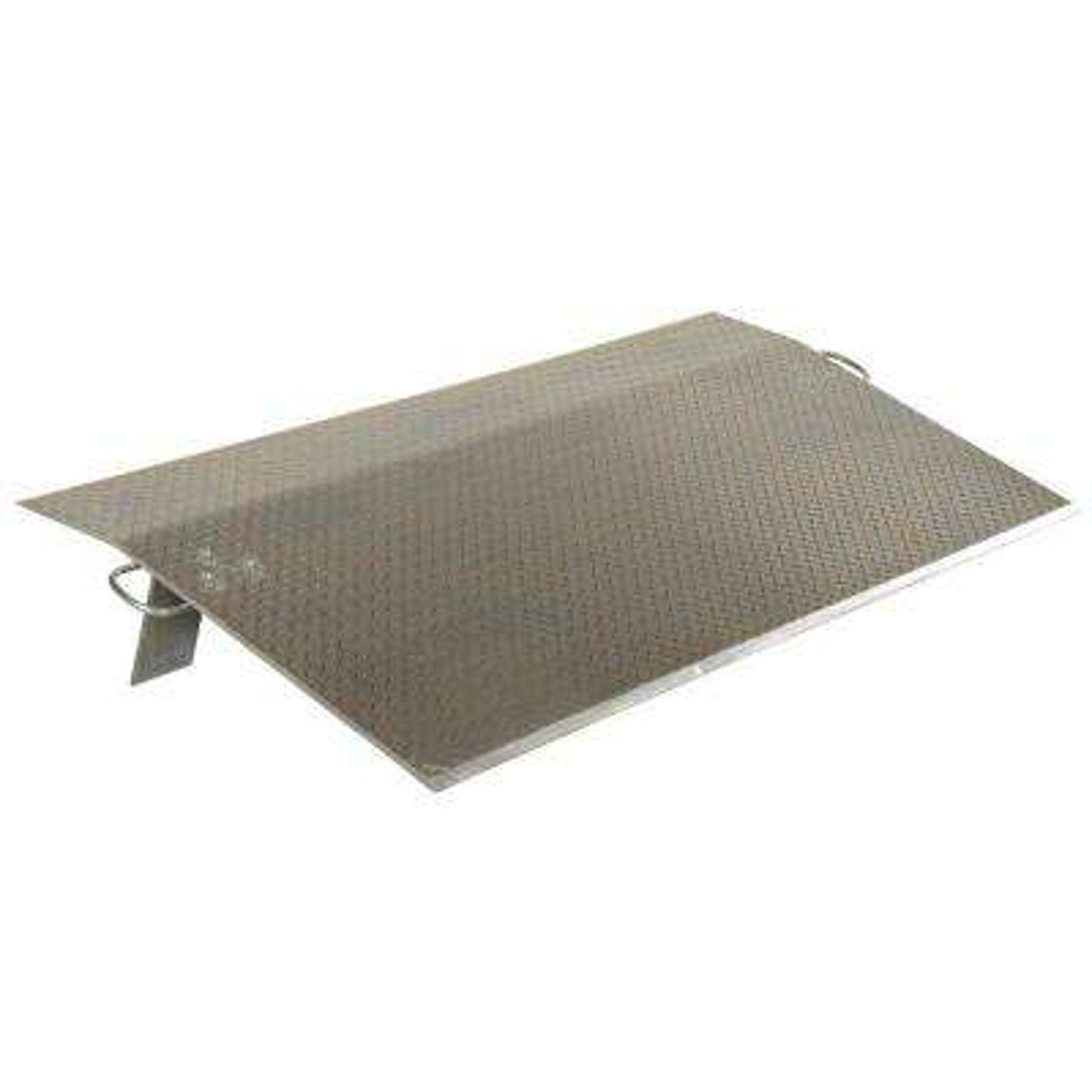 10,000 lb. 60 in. x 24 in. x 0.5 in. Aluminum Economy Dockplate
