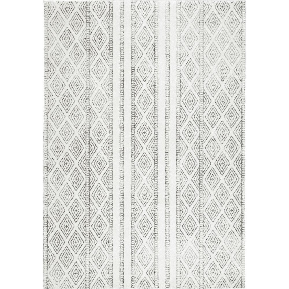 Nuloom Sarina Diamonds Grey 3 Ft X 5 Ft Area Rug Rzbd40a 305 The