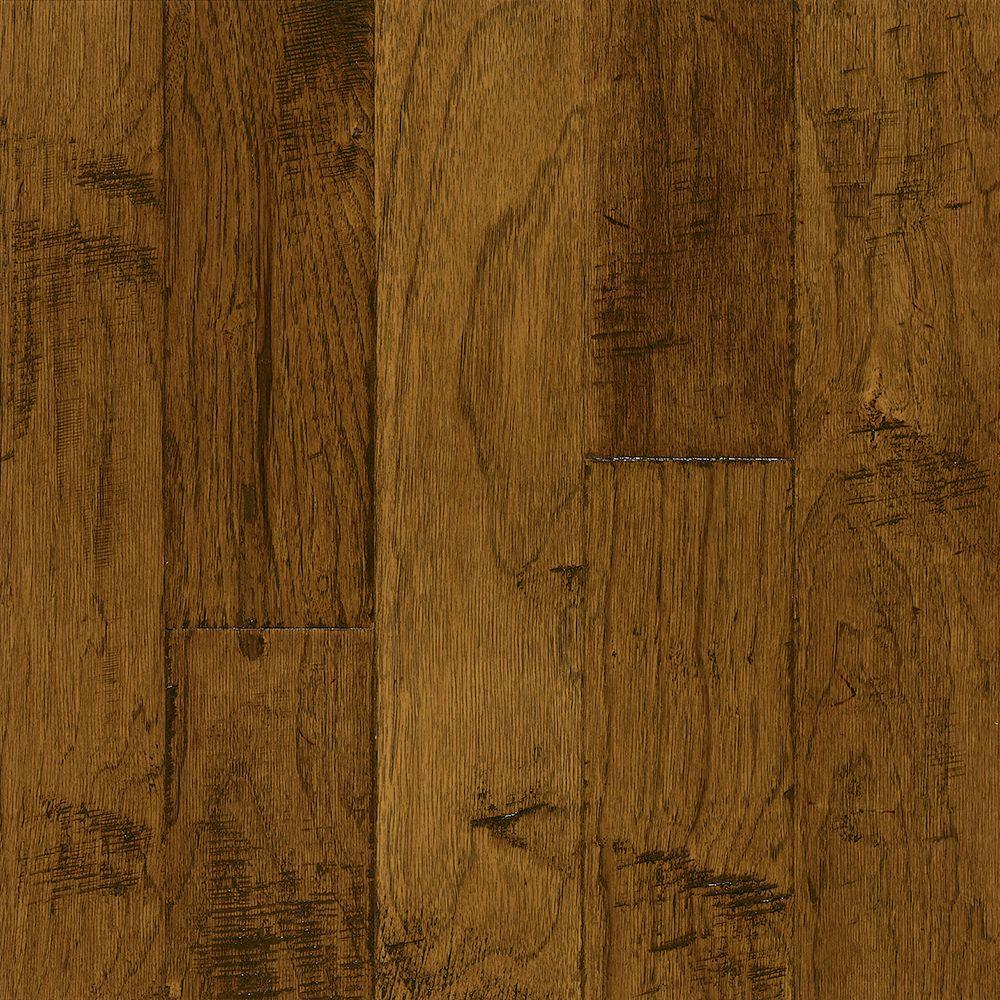 Bruce Hickory Brushed Candlelight 3/8 in. Thick x 5 in. Wide x Varying Length Engineered Hardwood Flooring (25 sq. ft. / case)
