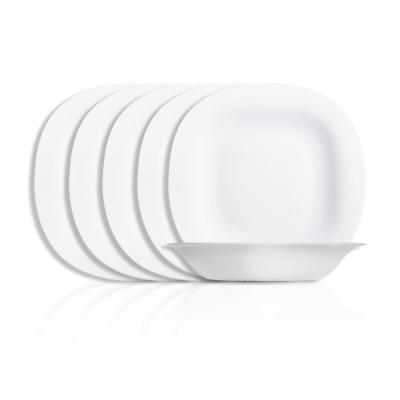 Carine White Soup Plate (Set of 6)