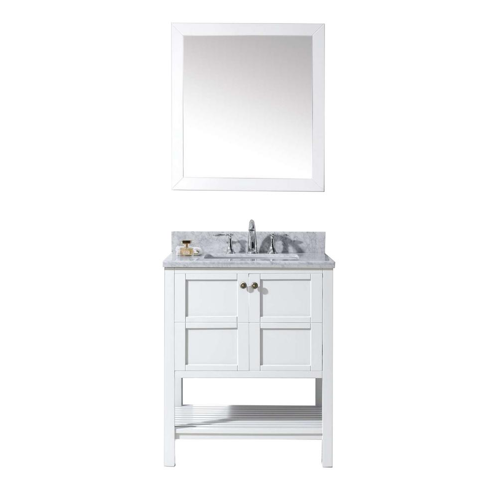 Virtu USA Winterfell 30 in. Vanity in Antique White with ...