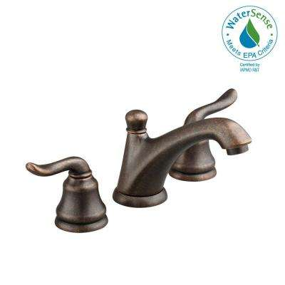 Princeton 8 in. Widespread 2-Handle Low Arc Lavatory Faucet in Oil Rubbed Bronze