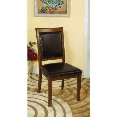 Sandy Brown Cherry and Black Point Transitional Style Side Chair