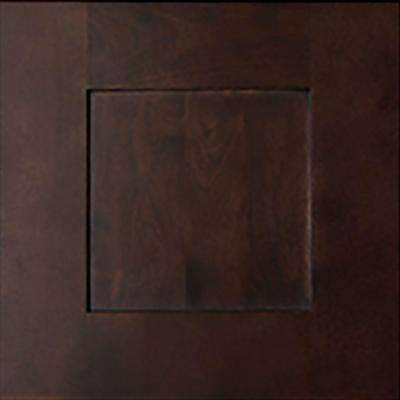 12.75x12.75x.75 in. Elice Ready to Assemble Cabinet Door Sample in Mocha