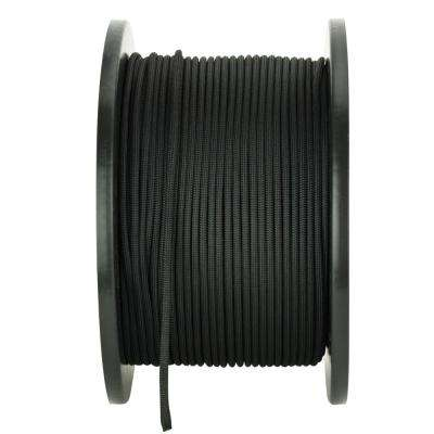 1/8 in. x 500 ft. Black Premium Nylon Paracord