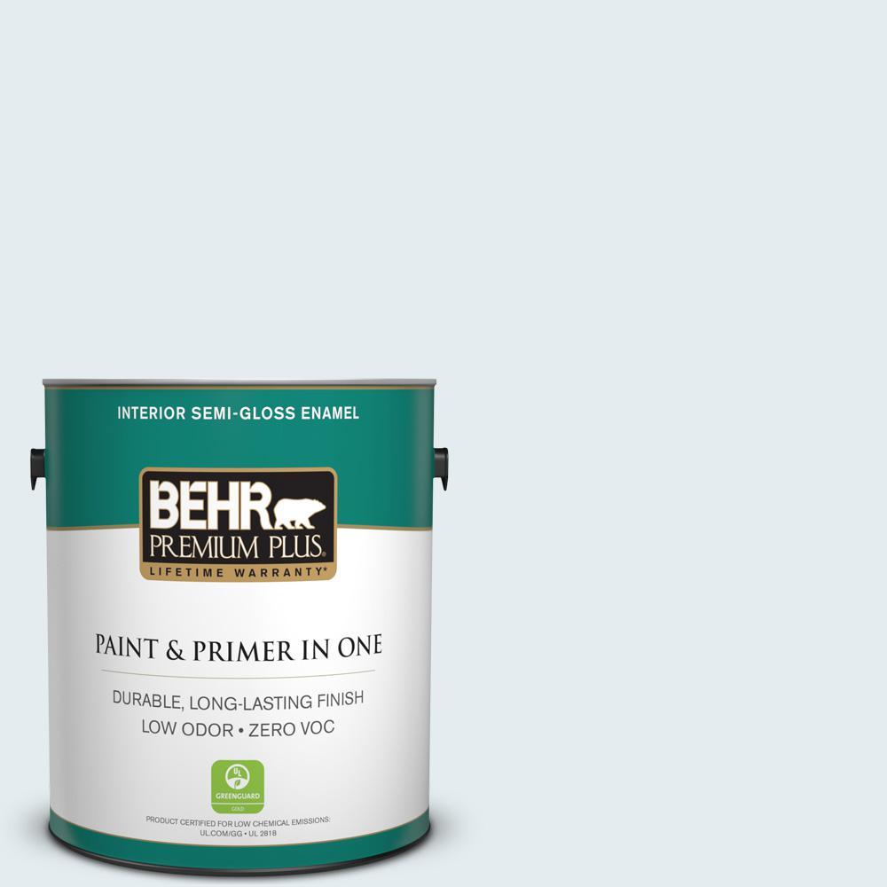 BEHR Premium Plus 1-gal. #550E-1 Breaker Zero VOC Semi-Gloss Enamel Interior Paint
