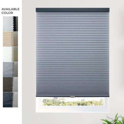 Cut to Width Morning Ocean (Privacy and Light Filtering) Cordless Cellular Shade - 64 in. W x 64 in. L