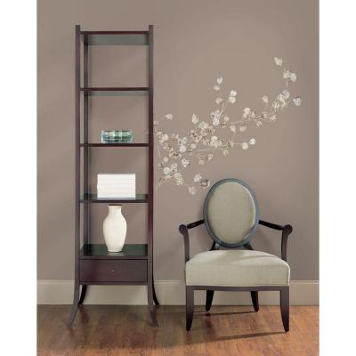 Silver Dollar Branch Peel and Stick Giant 28-Piece Wall Decal