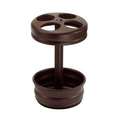 Olivia Toothbrush Stand in Bronze