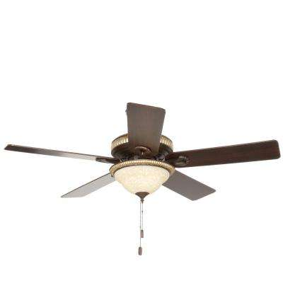 Aventine 52 in. Indoor Cocoa Bronze Ceiling Fan with Light Kit