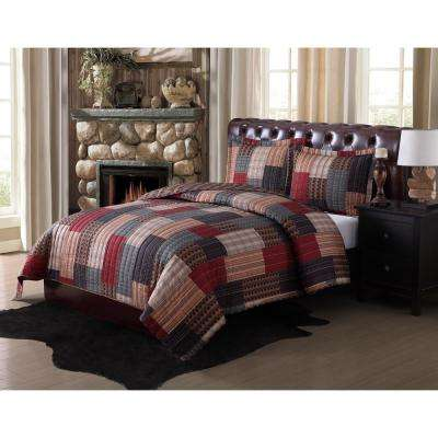 Gunnison Rotary 3-Piece Multiple Full and Queen Quilt with 2 Shams