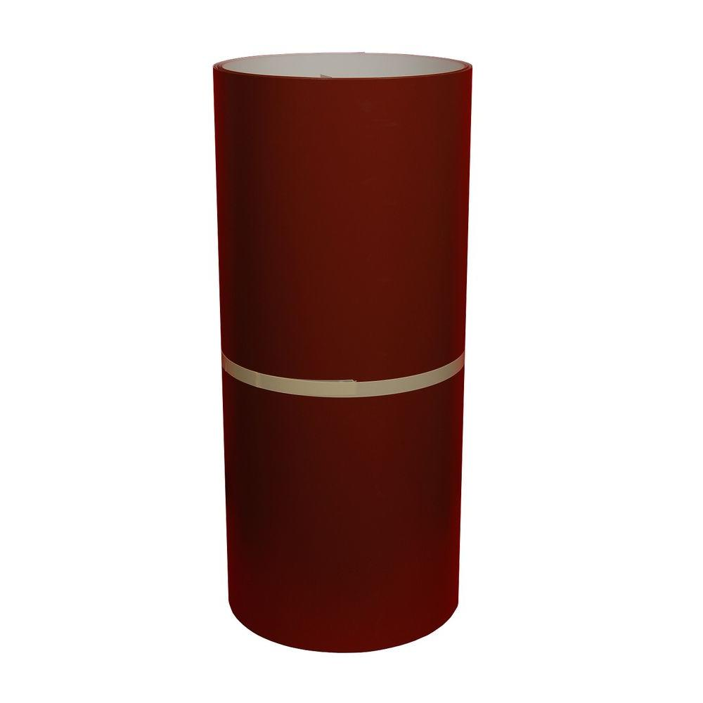 24 in. x 50 ft. Autumn Red and White Aluminum Trim
