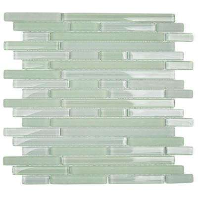 Temple Tranquility 11-3/4 in. x 11-3/4 in. x 8 mm Glass Floor and Wall Tile