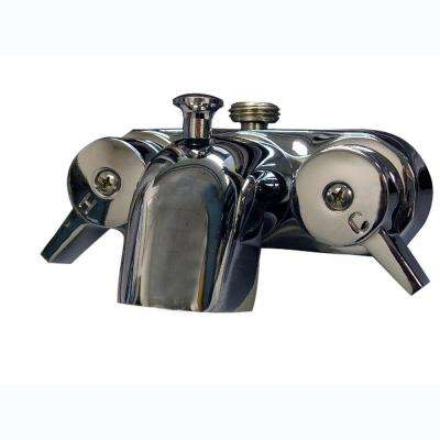 2-Handle Claw Foot Tub Faucet in Polished Chrome