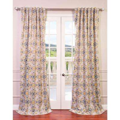 Semi-Opaque Soliel Yellow Grey Blackout Curtain - 50 in. W x 96 in. L (Panel)