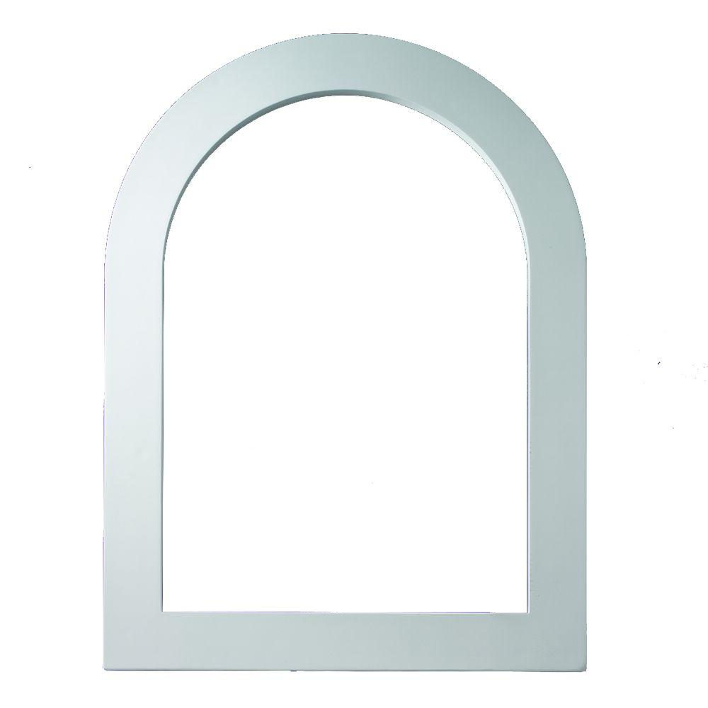 Fypon 25-1/8 in. x 61-1/8 in. x 1 in. Polyurethane Flat Trim for Cathedral Louver Gable Vent