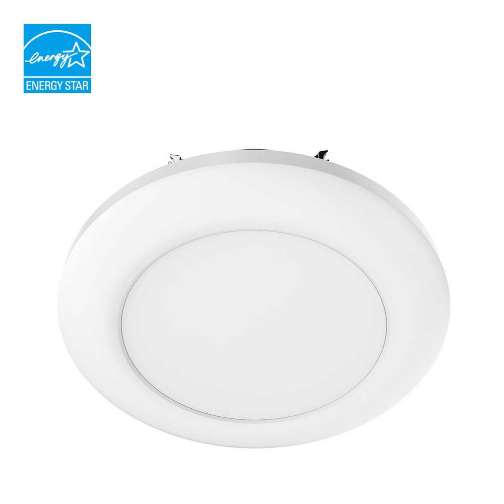 Commercial Electric 5 in. and 6 in. White Recessed LED Disk Light (1  sc 1 st  Home Depot & Commercial Electric 5 in. and 6 in. White Recessed LED Disk Light ... azcodes.com