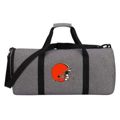 Browns Wingman 10 in. Heathered Gray Duffle Bag
