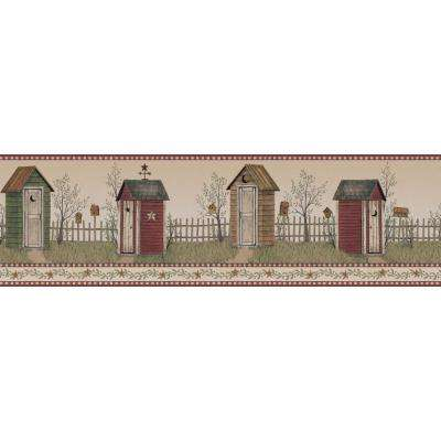 Inspired By Color Country Outhouse Wallpaper Border