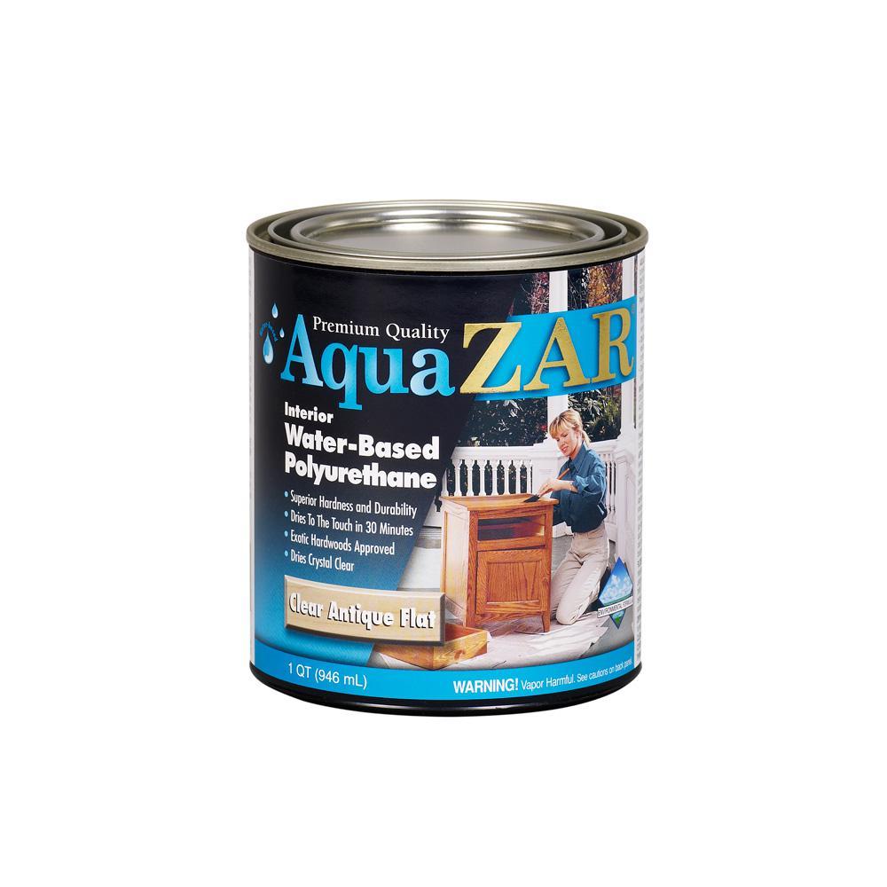 1 qt. Antique Flat Aqua Water-Based Polyurethane (2-Pack)
