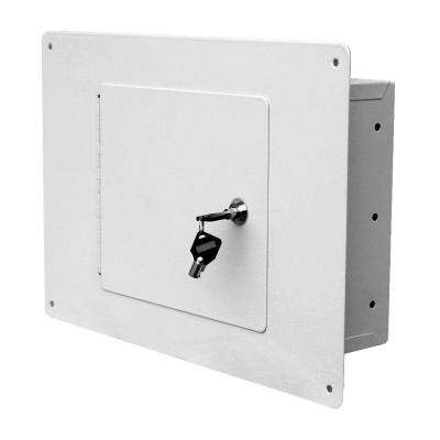 White Between The Studs 0.28 cu. ft. Non-Fire Resistant Short Wall Safe with Tubular Locking System