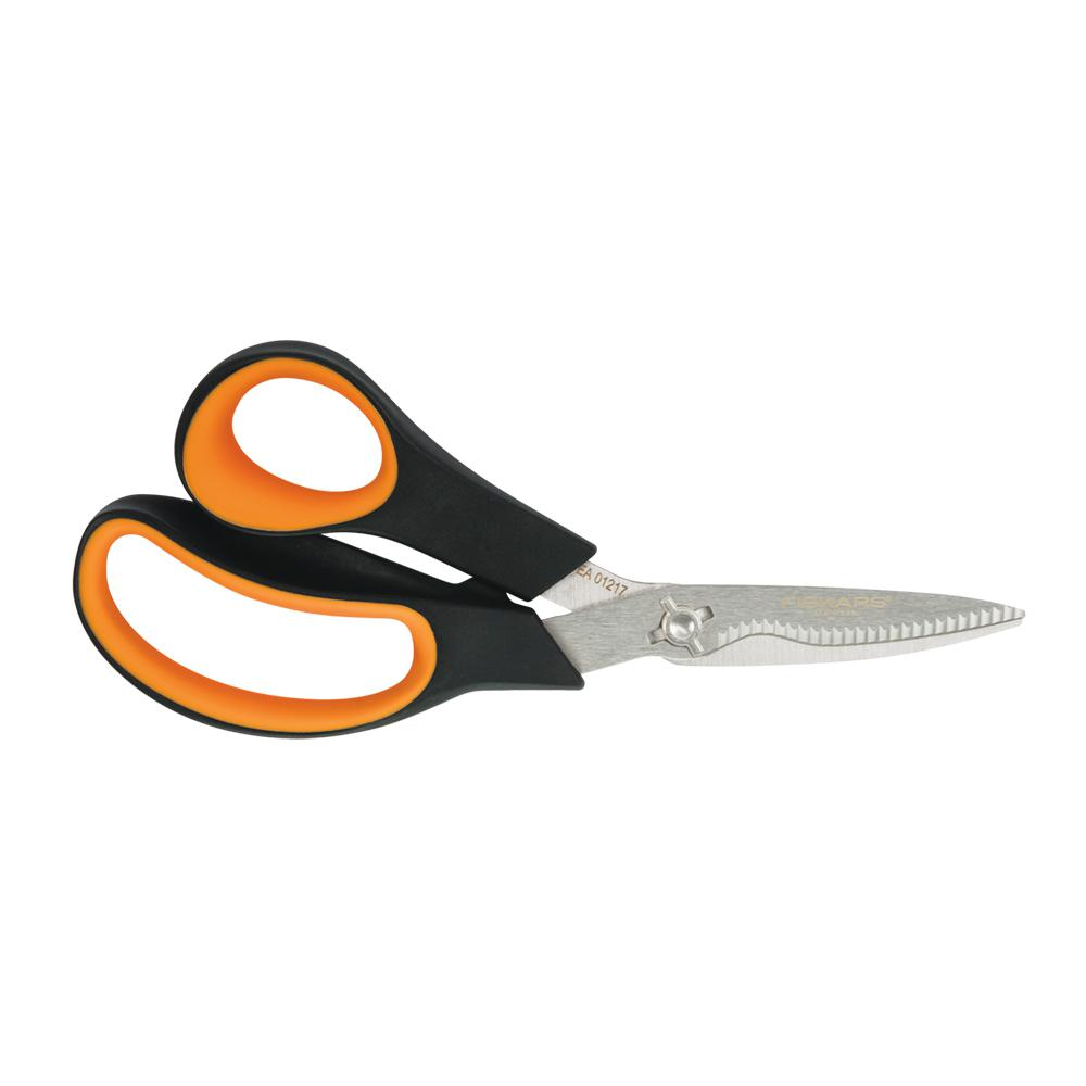Fiskars 2.75 in. Stainless Steel Blade Custom Molded Plastic Handled Garden Shears