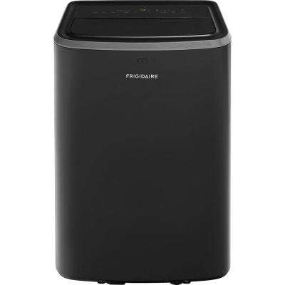 12000 BTU 6500 DOE Portable Air Conditioner in Black with Remote Control for Rooms up to 550 sq. ft.