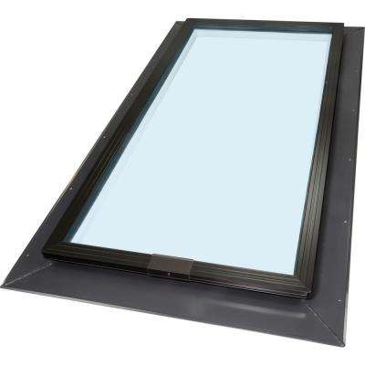 22-1/2 in. x 46-1/2 in. Fixed Self-Flashing Skylight with Tempered Low-E3 Glass