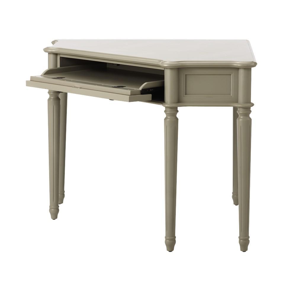 Internet #301141161. Martha Stewart Living Ingrid Rubbed Gray Desk